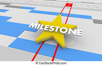 Milestone Important Achievement Gantt Chart 3d Illustration