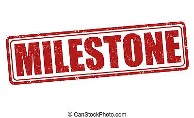 Milestone stamp - Milestone grunge rubber stamp on white, ...