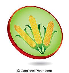 milho, abstratos, milho, ilustração