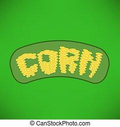 milho amarelo, letras