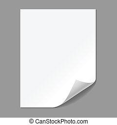 milho, dobradura papel, único, página