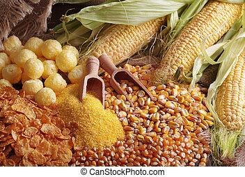 milho, produtos