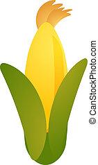 milho, vegetal, ícone