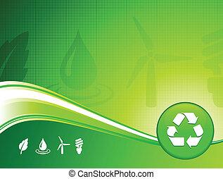 milieu, achtergrond, groene