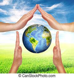 milieu, bescherming, concept