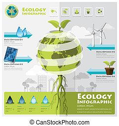 milieu, ecologie, infographic, element