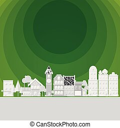 milieu, gat, groene, schoonmaken, dorp