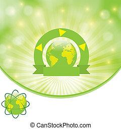 milieu, groene achtergrond, mal