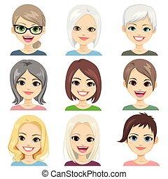 milieu, personne agee, vieilli, avatar, femmes
