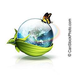 milieu, planeet, concept