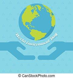 milieu, poster, woord, dag, aarde