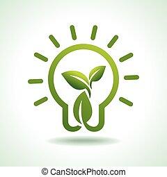 milieu, sparen, groene, idee