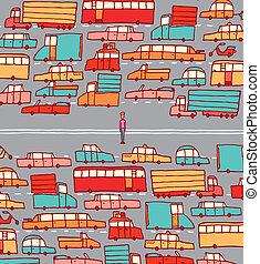 milieu, voiture, homme, trafic, piégé