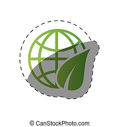 milieu, wereldbol, ontwerp