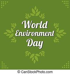 milieu, woord, boom dag, achtergrond