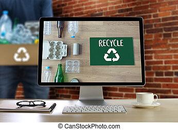 milieubescherming, hergebruiken, groene, besparing, leven, bewaring, bescherming, groei, plan, zakelijk, bio, eco, bos