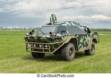 militär, bepansrad fordon