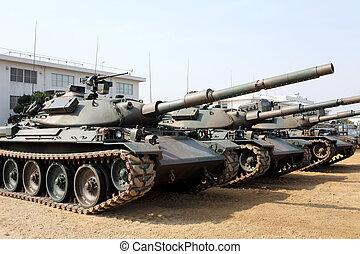 militär, cistern, japansk