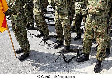 militär, japansk