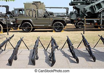 militär, japansk, gevär