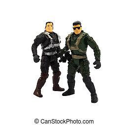 militär leksak, tjäna som soldat