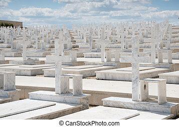 militär, minnesmärke, kyrkogård, nicosia, cypern