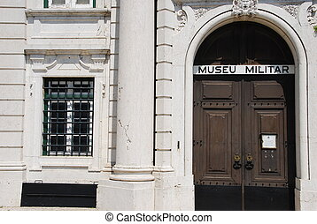 militär, museum, in, lissabon