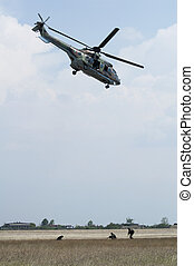 militär,  Operation, Helikoptrar