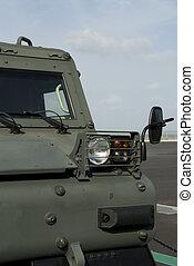 militär, spåra, fordon