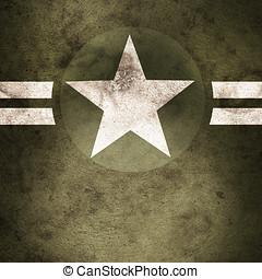 militär, stjärna, bakgrund, här