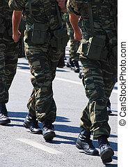militär, tjäna som soldat