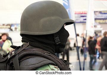 militär uniformera