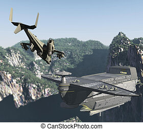 militärische basis, bergen