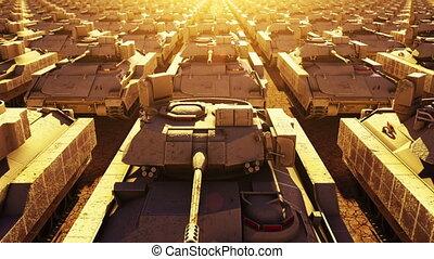 militärische tanks, seamless, schleife
