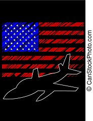 militärisches flugzeug, eins