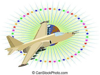 militärisches flugzeug