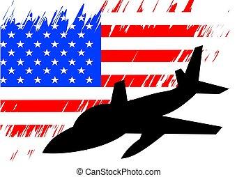 militärisches flugzeug, zwei