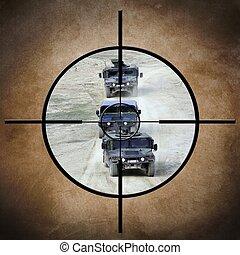 militäriska fordon, måltavla