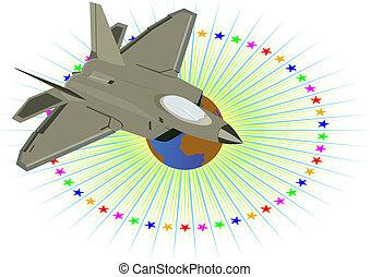 militær, aircraft.