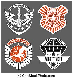 militær, airforce airforce, lap, sæt, -, bevæbne fremtvinge,...
