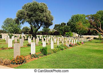 militær, cemetery.
