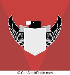 militær, emblem.