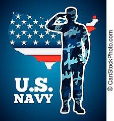 militær, emblem