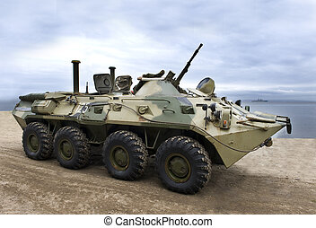 militær, hær, pansret køretøj