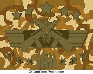 militær, logo, rifleman