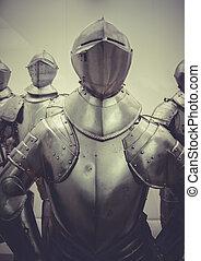 militær, middelalderlige, jern, panser, spansk, armada