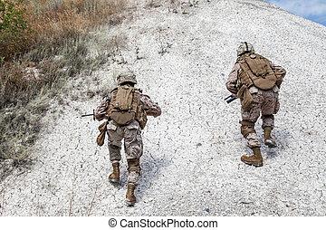 militær, operation