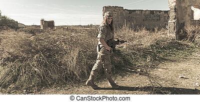 militær, pige
