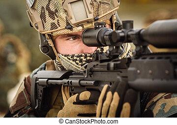 militær, snigskytte