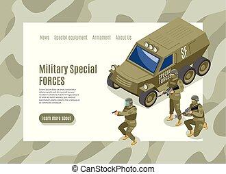 militær, speciel fremtvinger, væv side